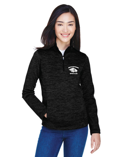 North Hunterdon Wrestling Fleece Quarter Zip - Black
