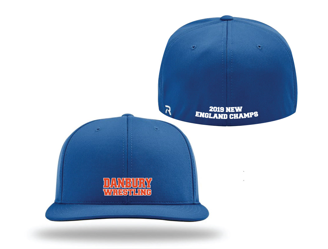 Danbury HS Wrestling Flexfit Cap - Royal - 5KounT2018