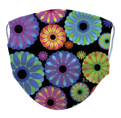 Neon Flowers Reusable Face Mask