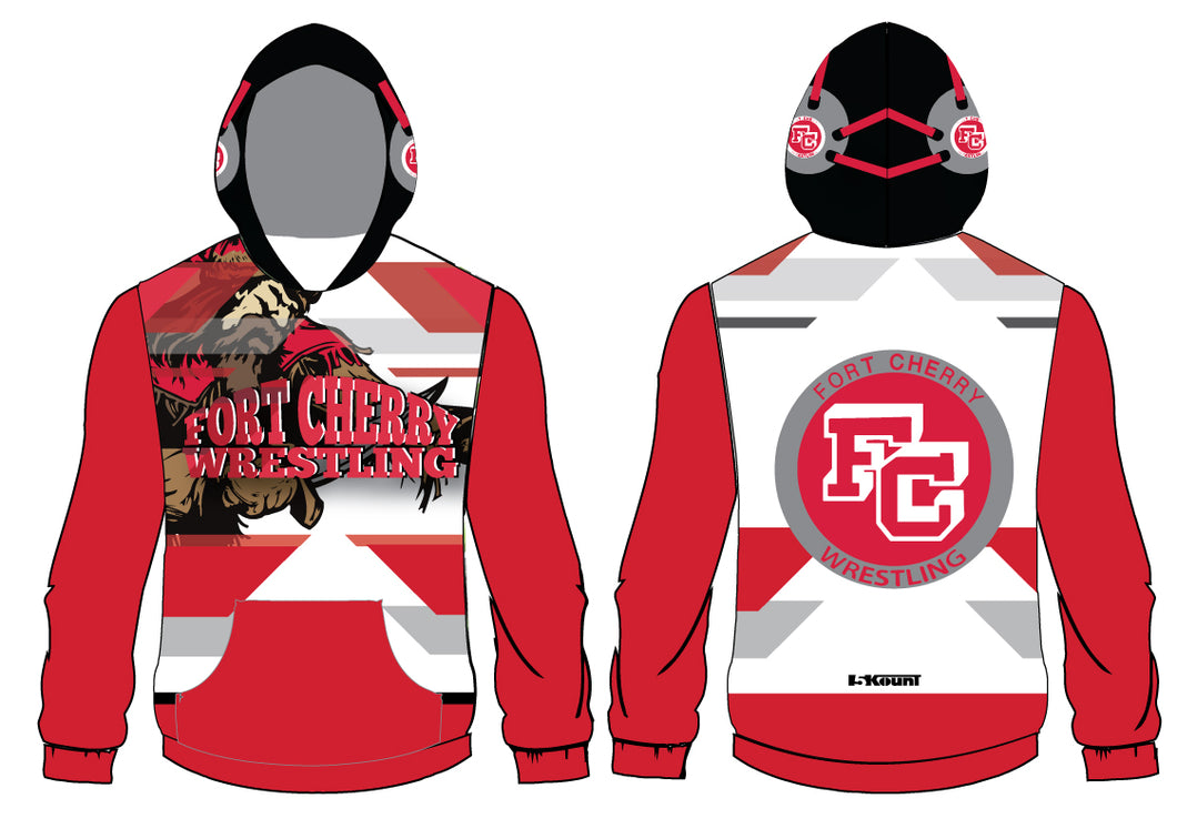 Fort Cherry Sublimated Hoodie - White