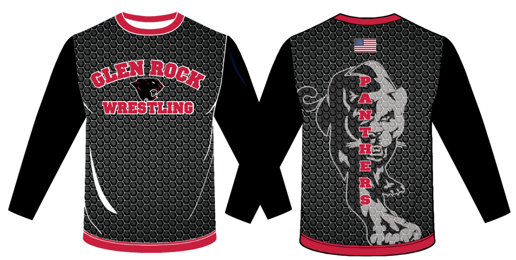 Glen Rock Wrestling Sublimated Long Sleeve Shirt