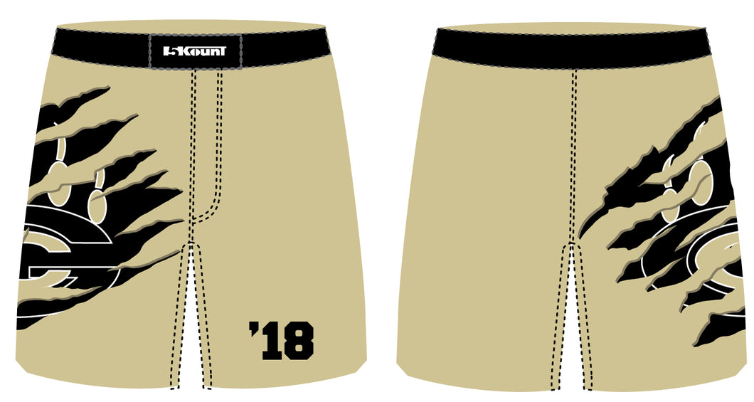 Grays Creek Wrestling Sublimated Fight Shorts - Gold