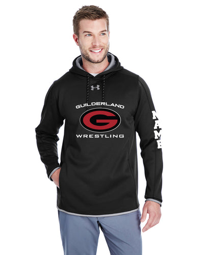 Guilderland Wrestling Under Armour Men's Double Threat Hoodie - Black - 5KounT2018