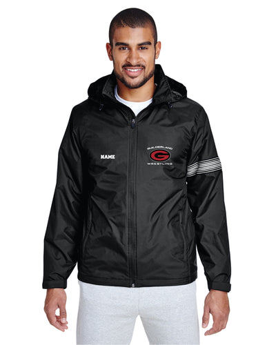 Guilderland Wrestling All-Season Hooded Men's Jacket - Black - 5KounT2018
