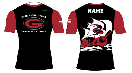 Guilderland Wrestling Sublimated Compression Shirt - 5KounT2018