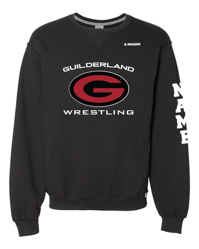 Guilderland Wrestling Russell Athletic Cotton Crewneck Sweatshirt - Black - 5KounT2018