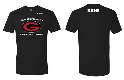 Guilderland Wrestling Cotton Crew Tee - Black - 5KounT2018
