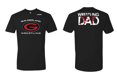 Guilderland Wrestling Dad Cotton Crew Tee - Black - 5KounT2018