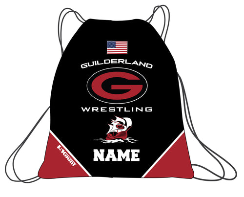 Guilderland Wrestling Sublimated Drawstring Bag - 5KounT2018