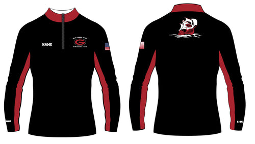 Guilderland Wrestling Sublimated Quarter Zip - 5KounT2018