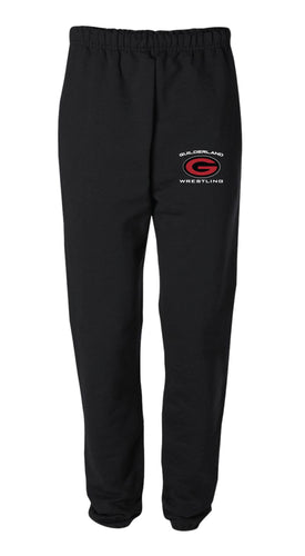 Guilderland Wrestling Cotton Sweatpants - Black - 5KounT2018