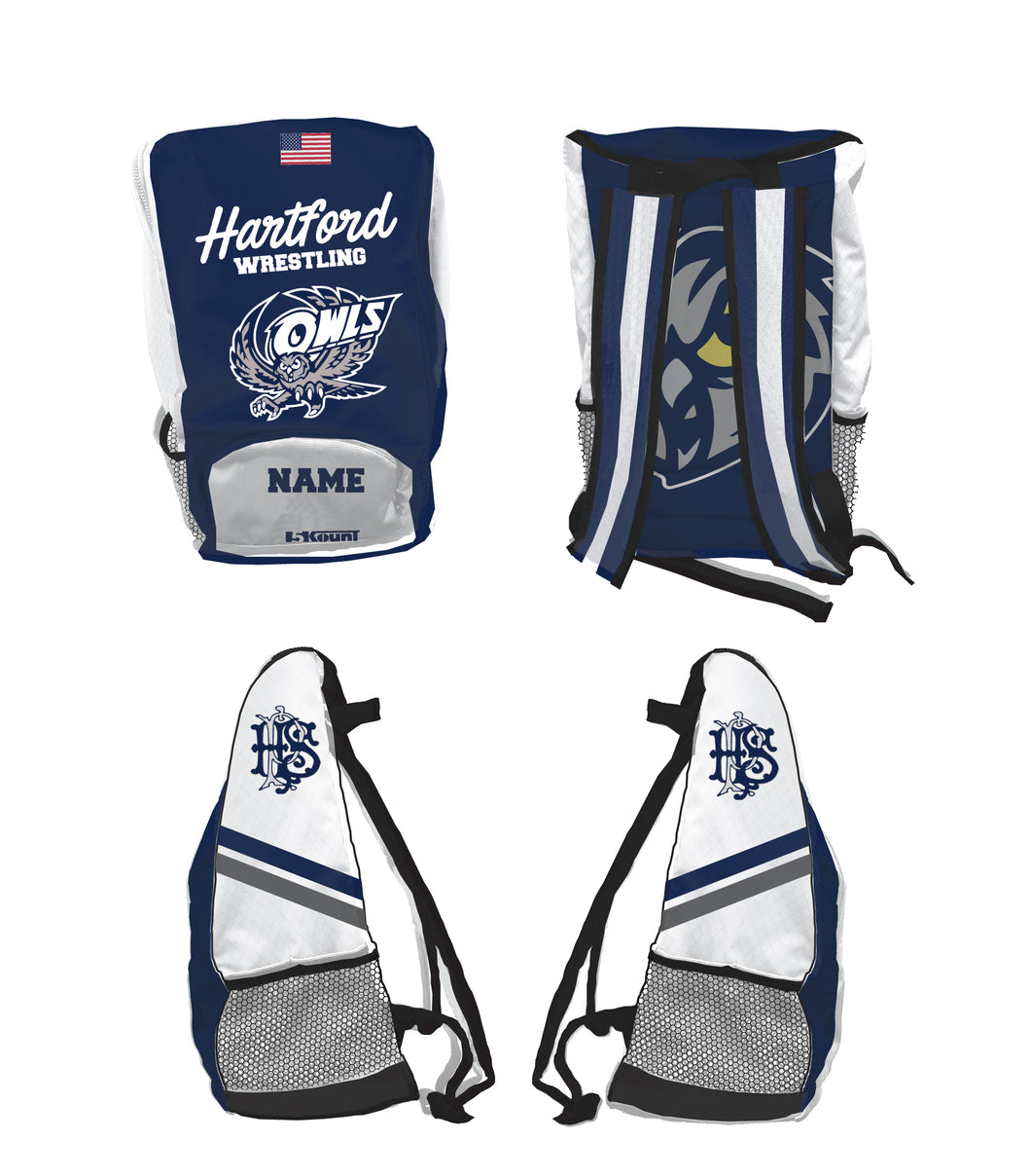 Hartford Owls Wrestling Sublimated Backpack - 5KounT2018