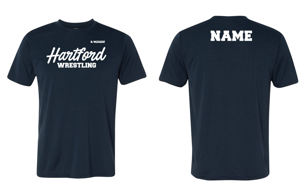 Hartford Owls Wrestling DryFit Performance Tee - Navy - 5KounT2018