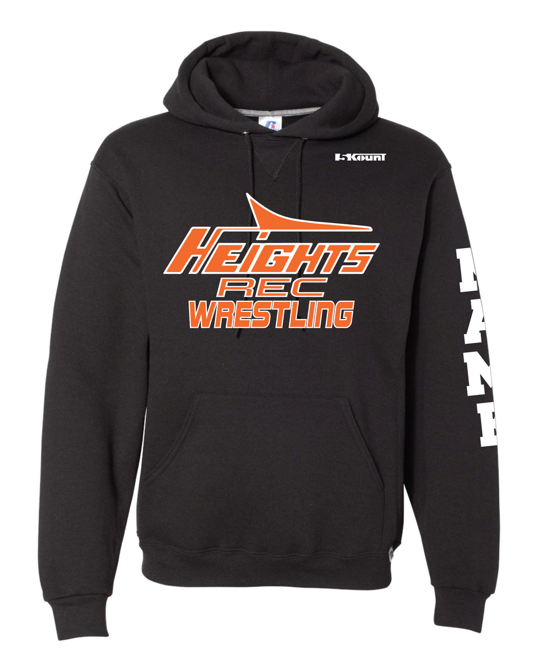 Hasbrouck Heights Wrestling Russell Athletic Cotton Hoodie - Black - 5KounT2018