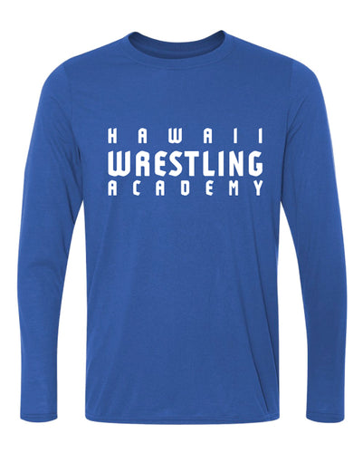 Hawaii Wrestling Academy Dryfit Performance Long Sleeve Shirt - Royal/White/Red
