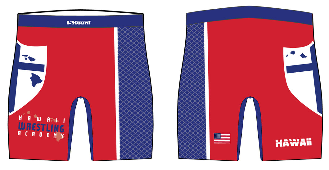 Hawaii Wrestling Academy Sublimated Compression Shorts - 5KounT2018