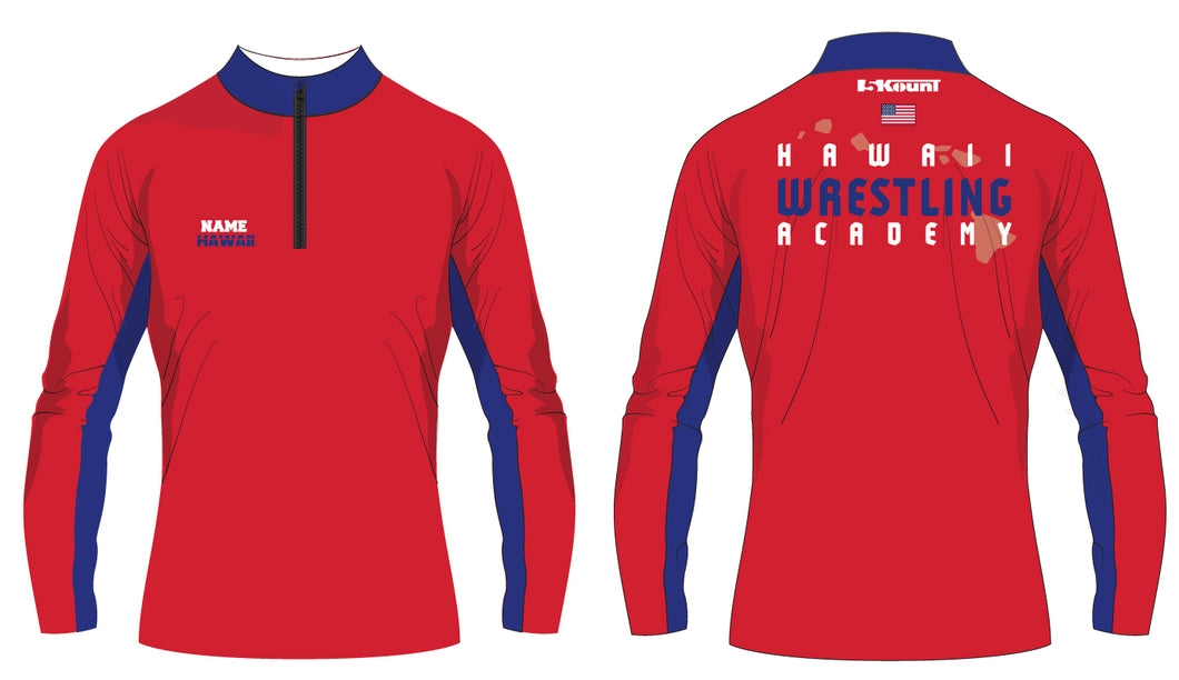 Hawaii Wrestling Academy Sublimated Quarter Zip