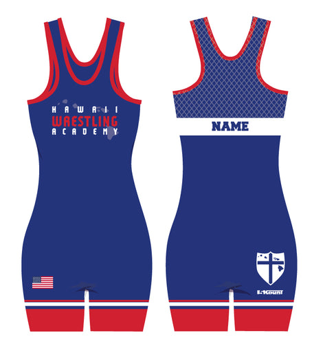 Hawaii Wrestling Academy Sublimated Singlet Women - Blue
