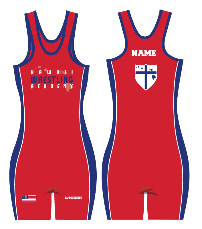 Hawaii Wrestling Academy Sublimated Singlet Women - Red
