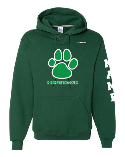 Heritage Baseball Russell Athletic Cotton Hoodie - Green - 5KounT2018