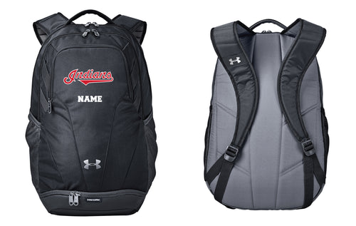 Indians Baseball Under Armour Backpack - Black - 5KounT2018