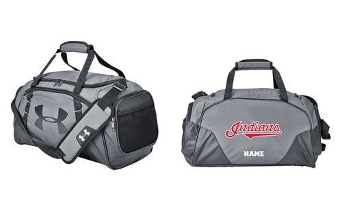 Indians Baseball Small Under Armour Duffel / Travel Bag - Gray - 5KounT2018