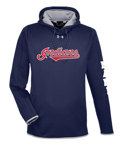 Indians Baseball Under Armour Men's Fleece Hoodie - Navy - 5KounT2018