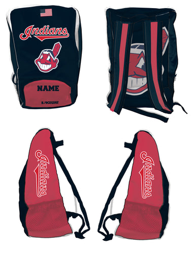 Indians Baseball Sublimated Backpack - 5KounT2018