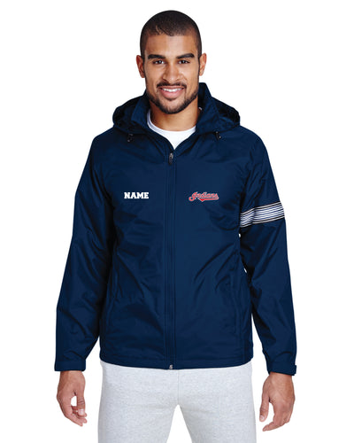 Indians Baseball All Season Hooded Men's Jacket - Navy - 5KounT2018