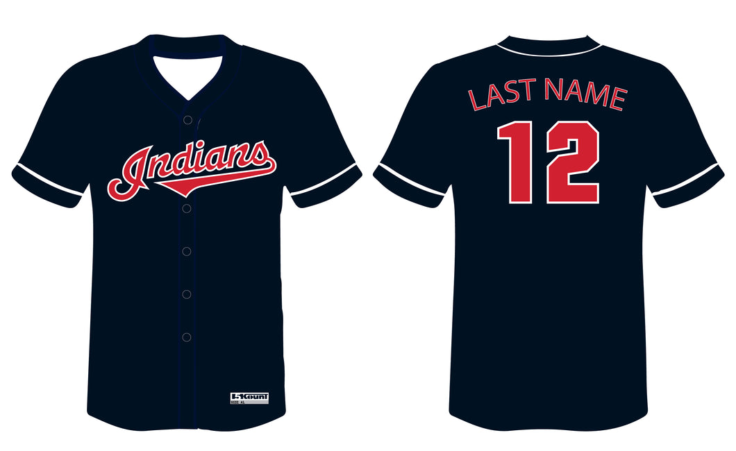 Indians Baseball Sublimated Game Jersey