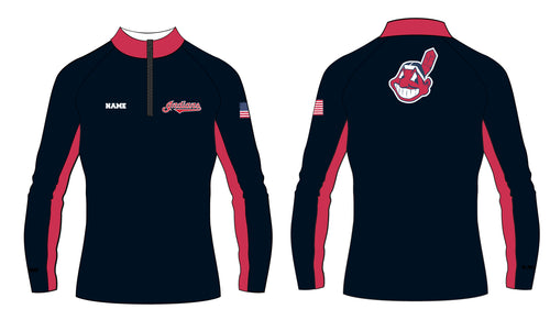Indians Baseball Sublimated Quarter Zip - 5KounT2018