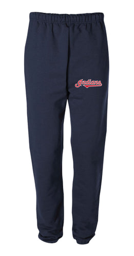 Indians Baseball Cotton Sweatpants - Navy - 5KounT2018