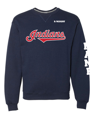 Indians Baseball Russell Athletic Cotton Crewneck Sweatshirt - Navy - 5KounT2018