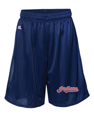 Indians Baseball Russell Athletic Tech Shorts - Navy - 5KounT2018