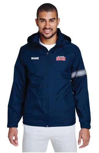 Secaucus Soccer  All Season Hooded Jacket - Navy - 5KounT2018