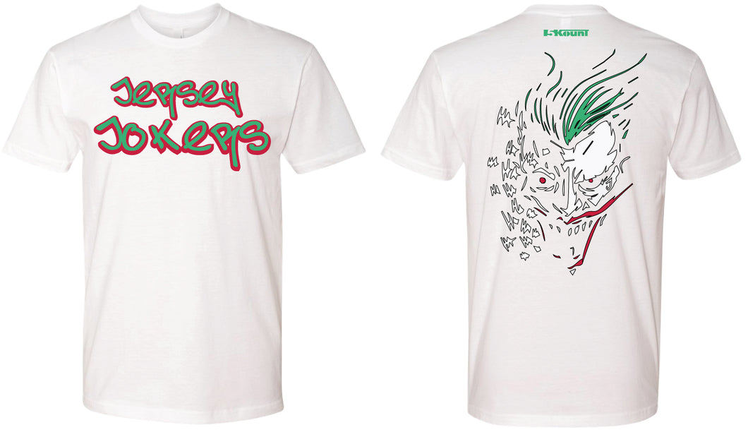 Jersey Jokers Cotton Crew Tee - White