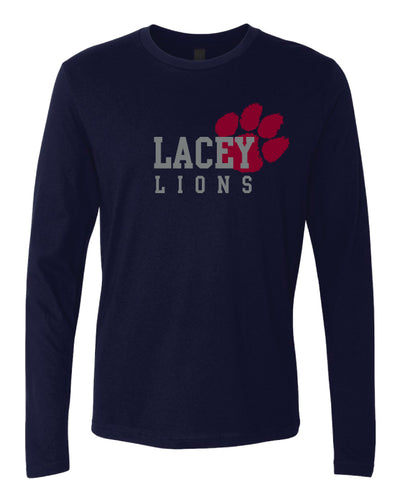 Lacey Lions Long Sleeve Cotton Crew Navy/Gray/White