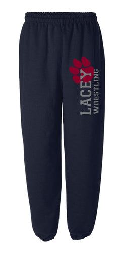 Lacey Wrestling Cotton Sweatpants - Grey / Navy