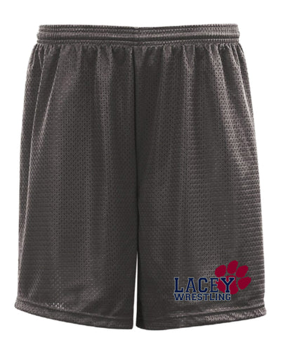 Lacey Wrestling Tech Shorts - Gray/Navy