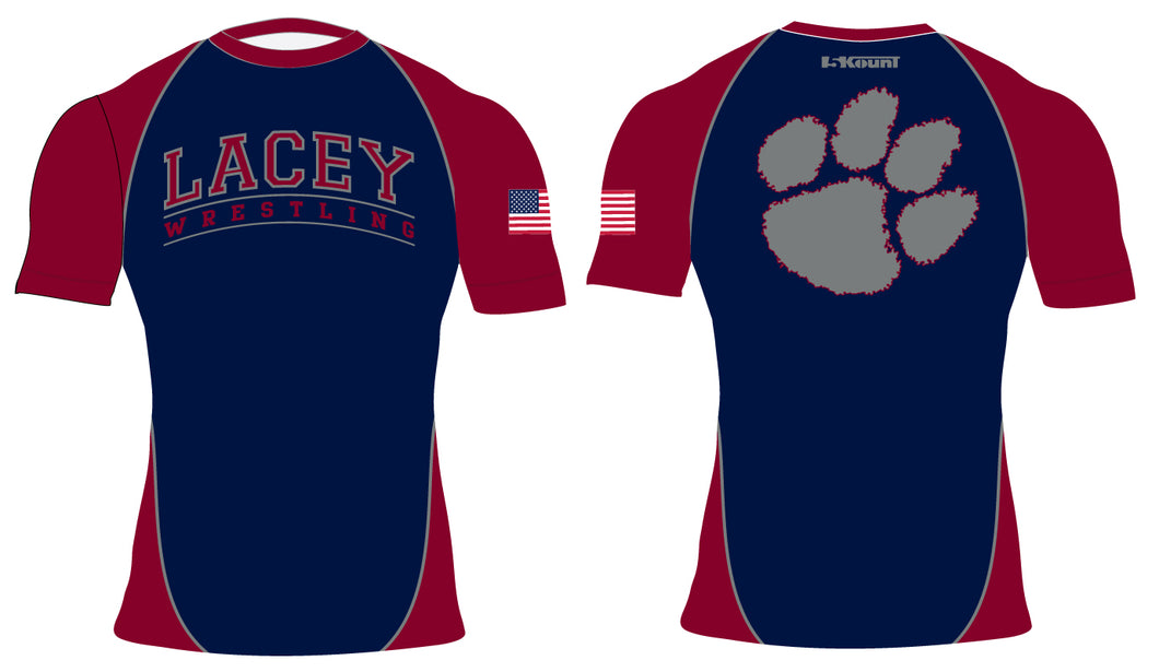 Lacey Wrestling Sublimated Compression Shirt - 5KounT