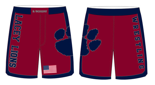 Lacey Lions Wrestling Sublimated Fight Shorts