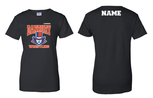 Danbury HS Wrestling Cotton Women's Crew Tee - Black