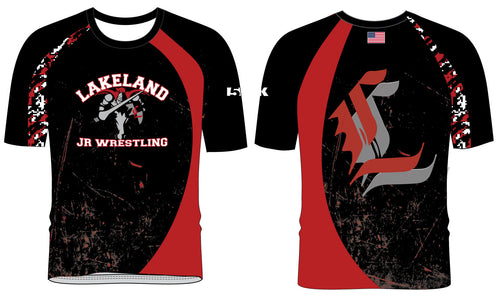 Lakeland Wrestling Sublimated Fight Shirt - Color Block - 5KounT2018