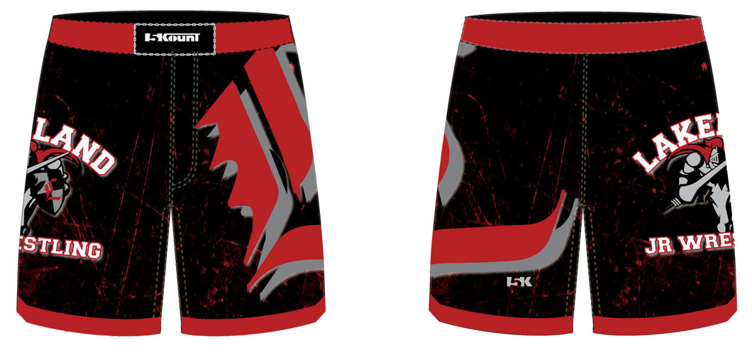 Lakeland Wrestling Sublimated Fight Shorts - 5KounT