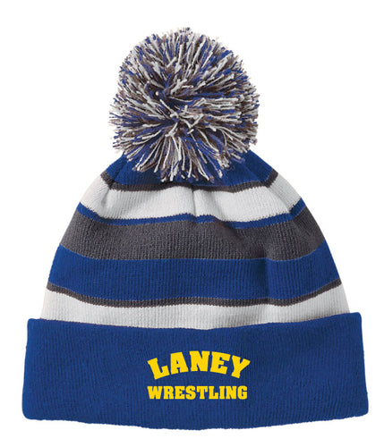 Laney Wrestling Pom Beanie - Royal
