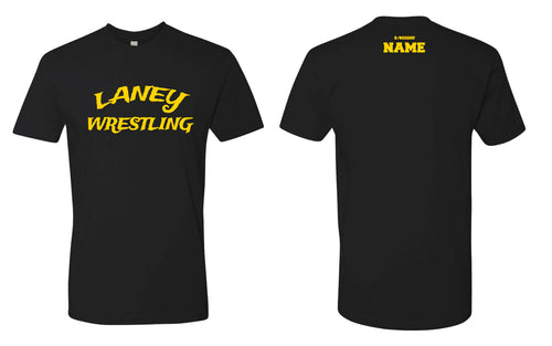 Laney Wrestling Cotton Crew Tee - Black - 5KounT2018