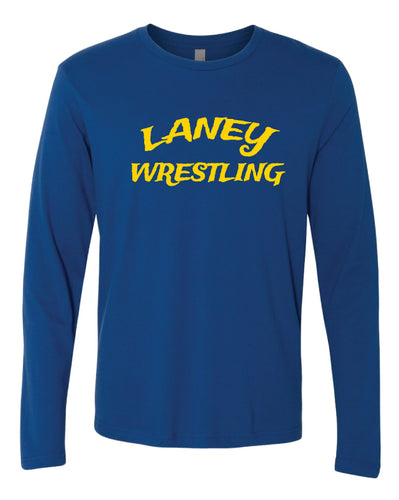 Laney Wrestling Long Sleeve Cotton Crew - Royal