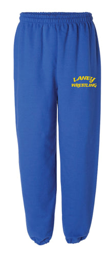 Laney Wrestling Cotton Sweatpants - Royal