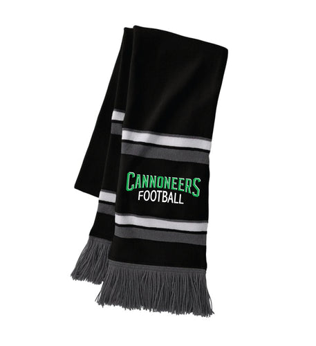 Cannoneers Football Scarf - Black / White / Graphite - 5KounT2018