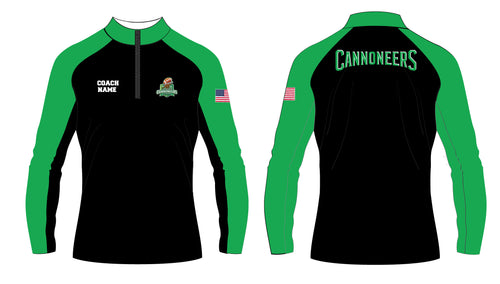 Cannoneers Football Sublimated Quarter Zip - Coach - 5KounT2018